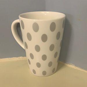 2005 Starbucks Coffee Mug Grey Polka Dots